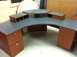 corner office desk wood. Furniture:Simply Corner Office Table With Unfinished Wooden Laptop Desk Drawers And Small Cabinet Wood C