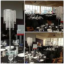 crystal drop chandelier table centrepiece hire