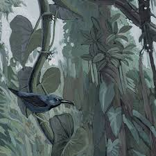 Behang Tropical Landscapes Groen Vliesbehang 2922x280cm 6 Sheets
