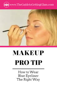 want to learn how to wear blue eyeliner the right way watch this pro makeup