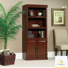 office bookcases with doors. Wooden Bookcase Doors Home Office Bookshelf Storage Cabinet 3 Shelves Cherry Bookcases With M