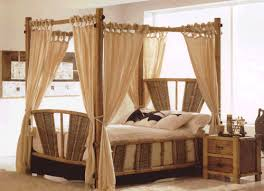 Maui Bamboo Queen Canopy Bed | Better Home Improvement | www ...