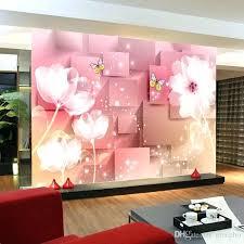 pink wall decor murals elegant photo wallpaper white lotus wall mural silk large wall art room pink wall decor