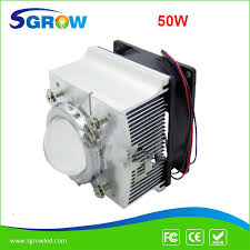 new 50w diy led grow light 50w full spectrum cob led driver heat sink fans lens for hydroponics system light for plants growing lights for plants
