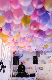 diy balloon ceiling on party balloons decorations ideas