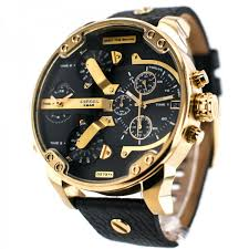 mens gold watches best watchess 2017 sel mr daddy 2 0 dz7371 black gold leather men 39 s watch