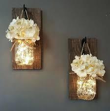 glowing mason jar wall sconces nursery wall decor ideas best rustic wall decor ideas and designs for