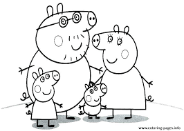 Peppa Pig Coloring Pages Pdf At Getdrawingscom Free For Personal