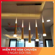 Đèn thả trần, đèn thả led bàn ăn 5 led màu vàng trang trí bàn ăn, phòng bếp  tại Hà Nội