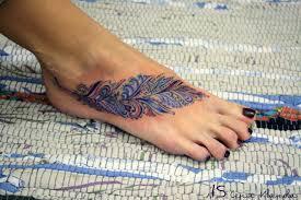 татуировка на стопе для девушек Volgosport спорт тату на ногах