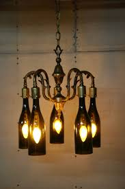 wine lighting. Lighting:Cool Wine Bottle Chandelier To Hang From My Pergola Woodworking Light Fixtures Recycled Crafts Lighting N