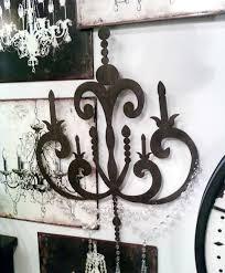 chandelier metal wall art
