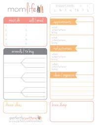Daily Planner Printout Free Printable Daily Planner For Moms Free Printables Pinterest