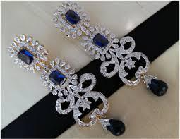 chandelier earrings india 3 25 ct gold