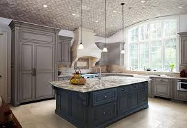 The Dark Cabinets Used For The Island Are A Strong Contrast To The Lighter  Main Kitchen Cabinets. This Is A Trend That Doesnu0027t Seem To Be Getting Old!