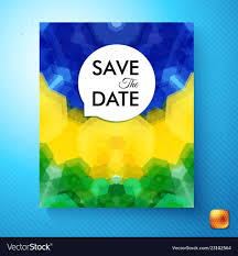 Colorful Save The Date Wedding Invitation Template