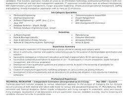 Non It Recruiter Resume Top Rated It Recruiter Resume D Resume