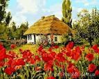 Раскраски украинских хат