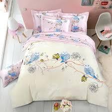 amazing tree print duvet cover uk blue owl tree print soft kids children intended for soft kids bedding attractive