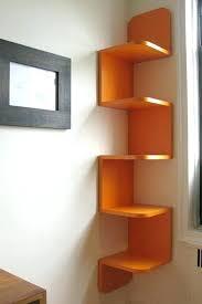wall shelves storage twisted storage wall hanging wood corner shelf system