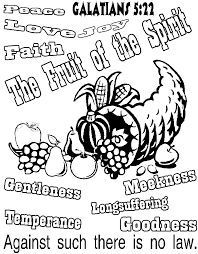 Small Picture Fruits Of The Holy Spirit Coloring Pages Coloring Home