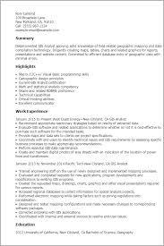 Gis Programmer Sample Resume