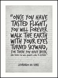 Da Vinci Quotes Enchanting Leonardo Da Vinci Quote Once You Have Tasted Flight Inspirational