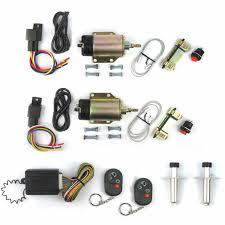 85lb shaved door handle kit 2 doors popper solenoid street rat hot rod car truck
