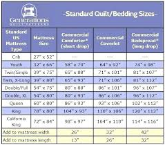 Bed Sheet Sizes Chart Bed Sheet Sizes Chart Simple Standard