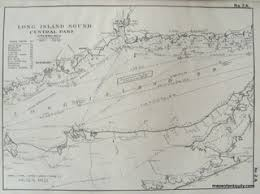 Fishers Island Sound Nautical Chart Antique Maps And Charts Original Vintage Rare Historical