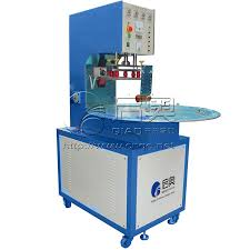 china high frequency pencil box card sleeve welding machine round table with 3 positions china high frequency welding machine welding machine