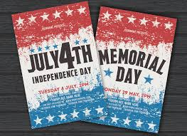 July 4th Memorial Day Psd Flyer Template Free Psd