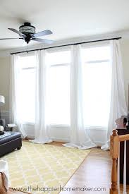 how to hang curtains without holes using command hooks great idea for ers or students