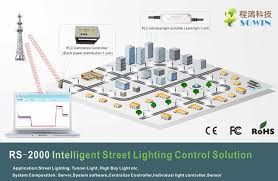 smart city road led street lighting add better than wifi control system