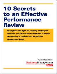 Sample Employee Performance Appraisal 10 Secrets To An Effective Performance Review Examples And Tips On