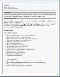 55) Experienced Accountant Resume Format :-