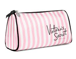 set amazon victoria s secret makeup bag pink white stripes makeup bags and cases beauty