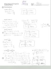sweet mrs belcher acc math 3 solving trig equations practice p trig worksheet worksheet um