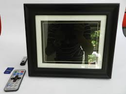 black 8 inch high resolution digital picture frame with wooden frame 350cd m2