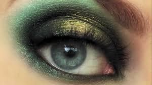 dark green gold smokey eye using makeup geek eyeshadow hd720 you