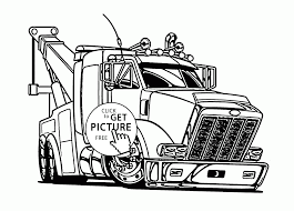 Coloring Page Truck Coloring Pages 4 In Truck Coloring Pages L L L