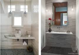 for a contemporary look to your small half bath mount a floating ledge style surface with a vessel sink that sits on the ledge images zero energy and vt