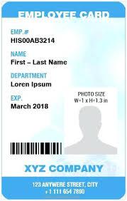 Vertical Design Employee Id Card Template Ms Word Online 8