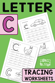 Letter C Tracing Worksheets - Itsy Bitsy Fun