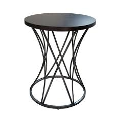 amber antique silver end table  the home depot