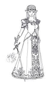 Legend Of Coloring Book Pages Online Zelda Princess The Oca Seaahco