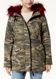 american rag juniors faux fur trim hooded parka created for macy s