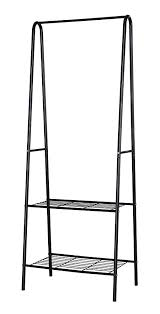Coat Rack With Storage Shelves Gorgeous Amazon HomeLike 32Tier Garment Rack Black Metal Coat Rack