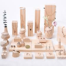 Wooden Jewelry Display Stands Amazing New Fashion Solid Wood Jewelry Display Holder Pendant Earrings