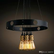 bulb chandelier iron circle creative retro restaurant cafe blown glass pendant lights outdoor light from edison uk